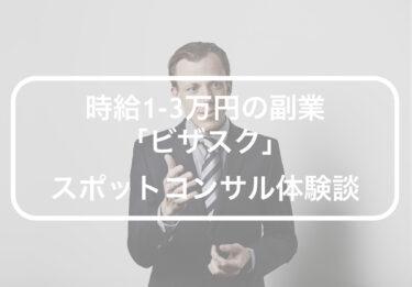 時給1-3万円の副業「ビザスク」スポットコンサル体験談